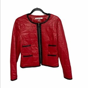 Peter Nygard Red and Black Jacket Size 10